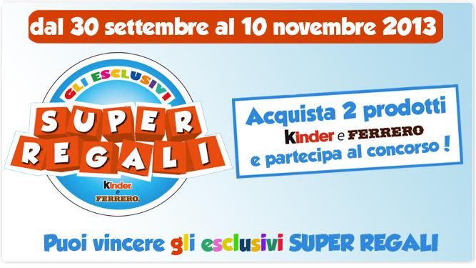 Concorso a Premi Kinder Super Regali