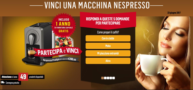 Concorso Tester Nespresso Vinci Macchina Caffè