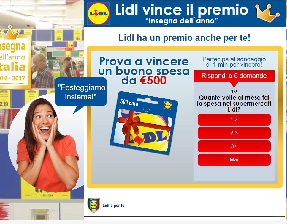 Vinci Spesa Lidl – Concors per Vincere 500€ di Spesa