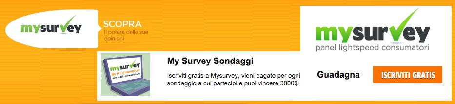 My Survey Guadagna Online Con i Sondaggi
