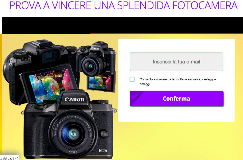 Concorso a Premi Vinci una Fotocamera Professionale
