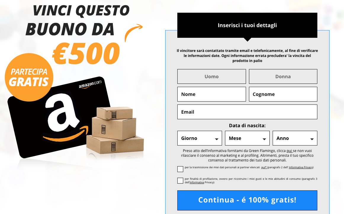vinci buono amazon