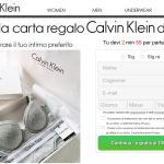 vinci coupon kalvin klein 750€