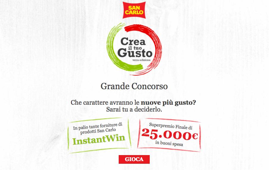 Concorso a Premi San Carlo Crea il Tuo Gusto Vinci fino a 25.000€