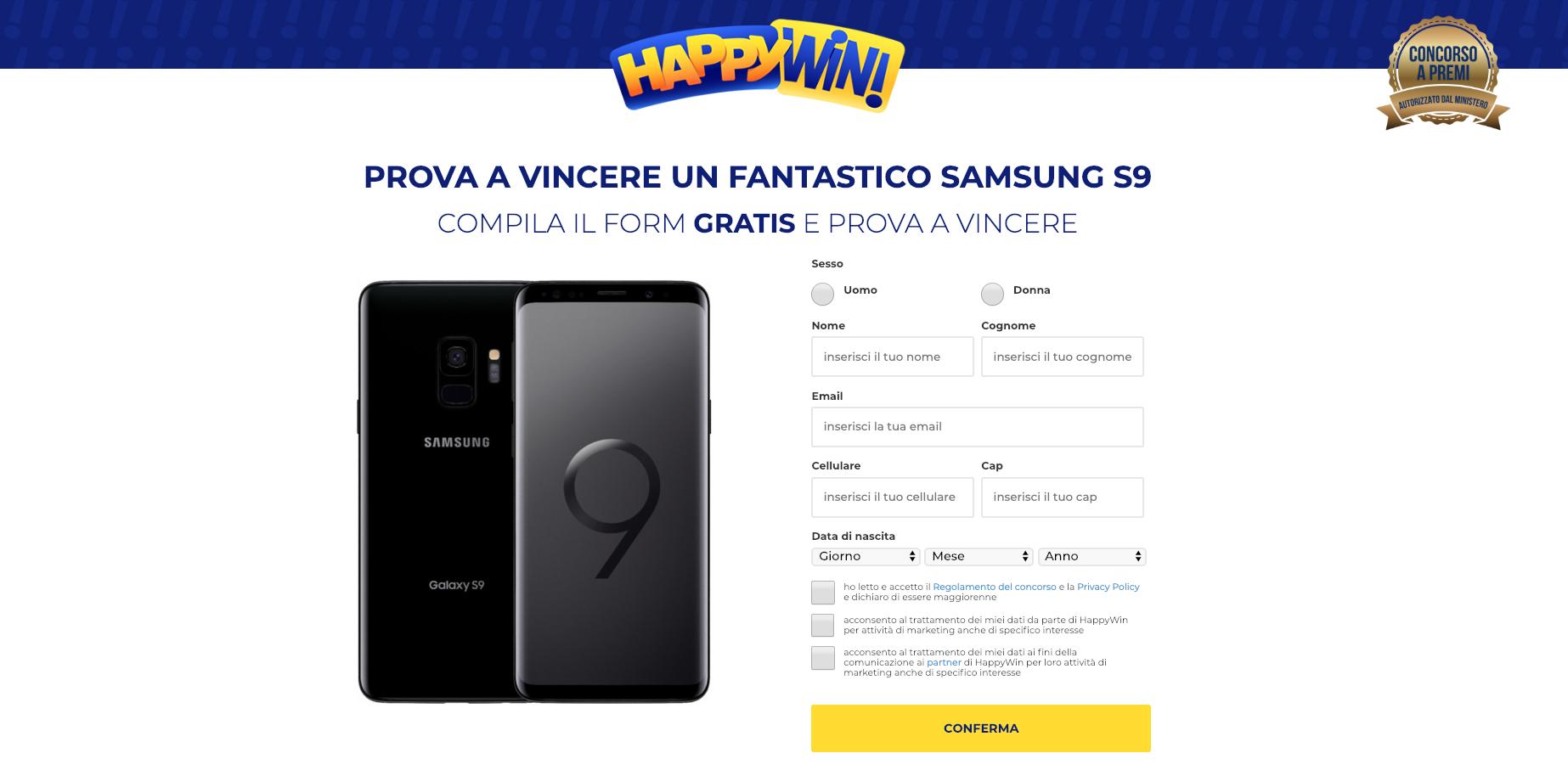 happy win concorso a premi vinci s9