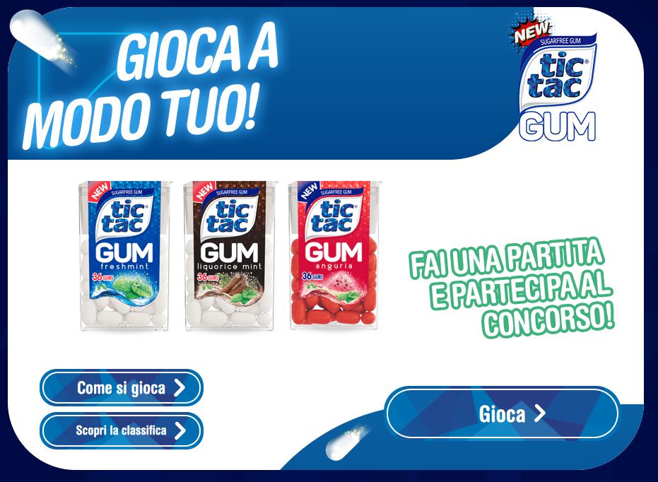 Concorso a Premi Tic Tac Gum Vinci Amazon e Dechatlon