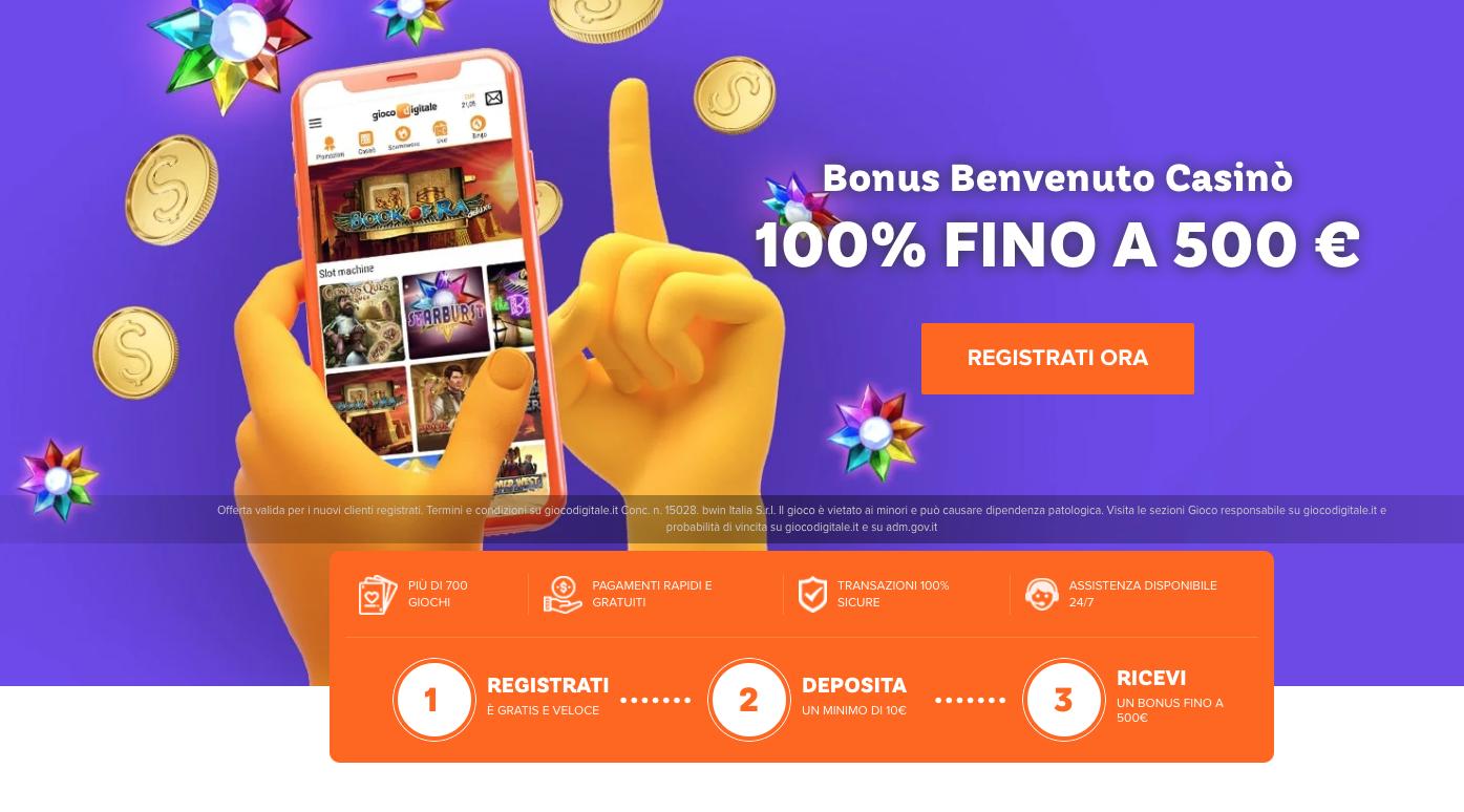 Gioco Digitale casino Download e Bonus benvenuto slot