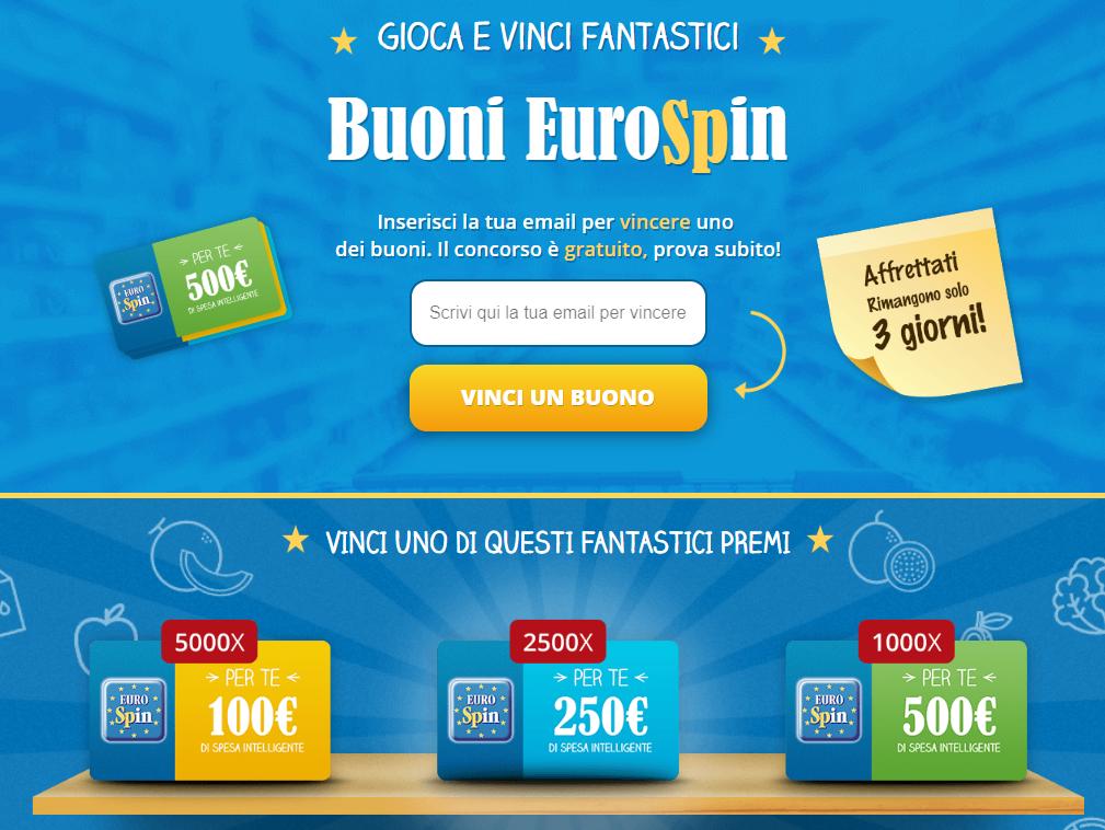 Concorso Vinci 500€ di Spesa da Eurospin