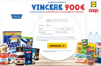 Concorso a Premi Vinci Buono da 900€ al Supermercato!