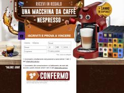 Concorso a Premi Vinci Macchina Nespresso e Cialde
