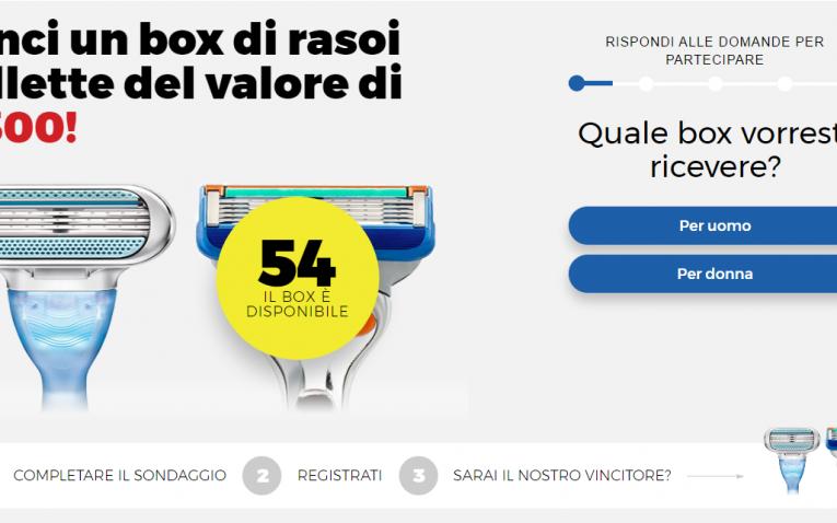 Partecipa e Vinci Box Rasoi Gillette