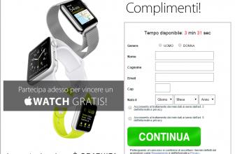 Concorso a Premi Vinci Nuovo Apple Watch