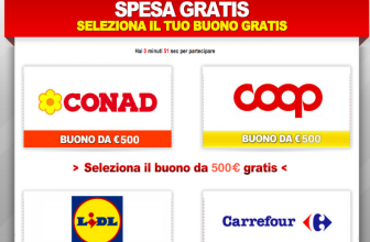 Vinci un Buono Spesa Da 500€ al Supermercato