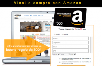 Vinci Coupon Amazon da 500€ – Concorso a Premi Amazon