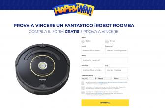 Prova a Vincere un Robot Aspirapolvere Roomba