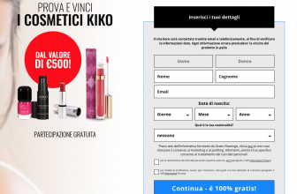 Concorso Kiko Make up: Prova e vinci 500€ di cosmetici Kiko