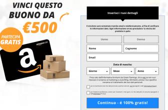 Vinci Coupon Amazon da 500€ – Concorso a Premi Online Amazon