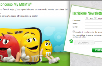 Concorso a Premi My M&M's Gioco Custodia Tablet