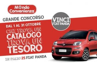 Concorso a Premi Mondo Convenienza Vinci Fiat Panda